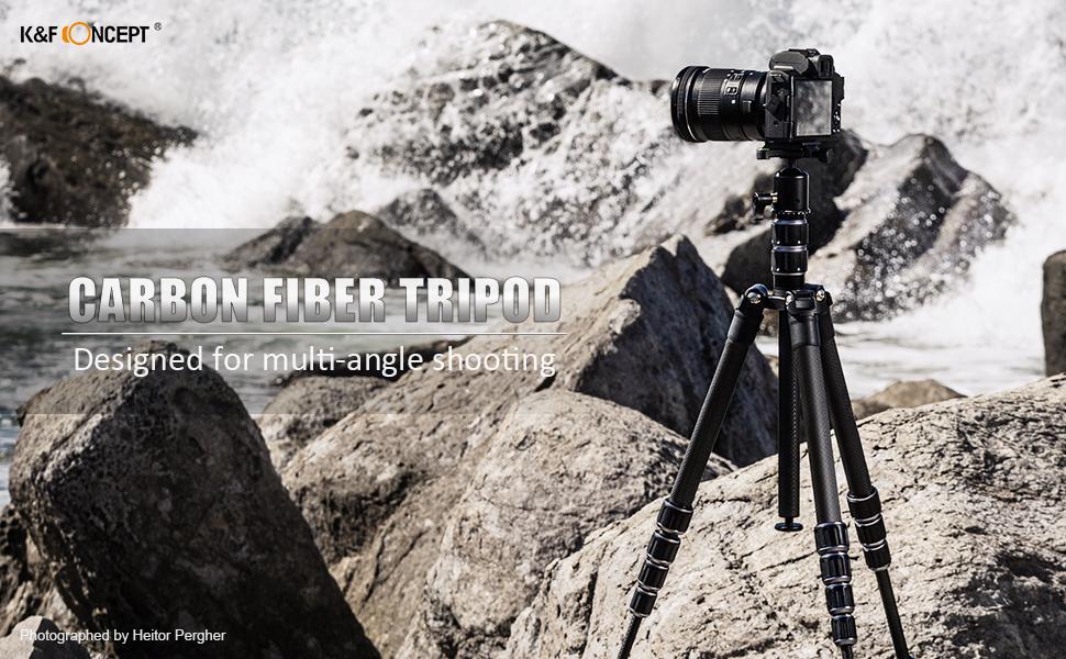 K&F Concept B210 Trípode de Viaje Fibra de Carbono Ligero con 2 Secciones Columna Central/Accesorios Metálico/Funda/Rótula de Bola 360° / para Vlogging Viaje para Cámara Canon Nikon Sony Olympus: Amazon.es: Electrónica