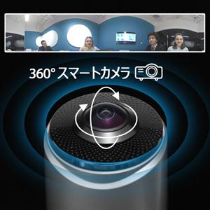 会議室のフルディスプレイ-360°スマートカメラ