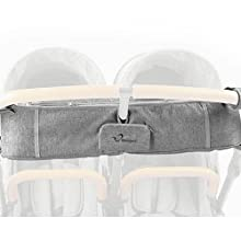 baby stroller double organizer side by side twin cup holder parent console strollair booyah momcozy
