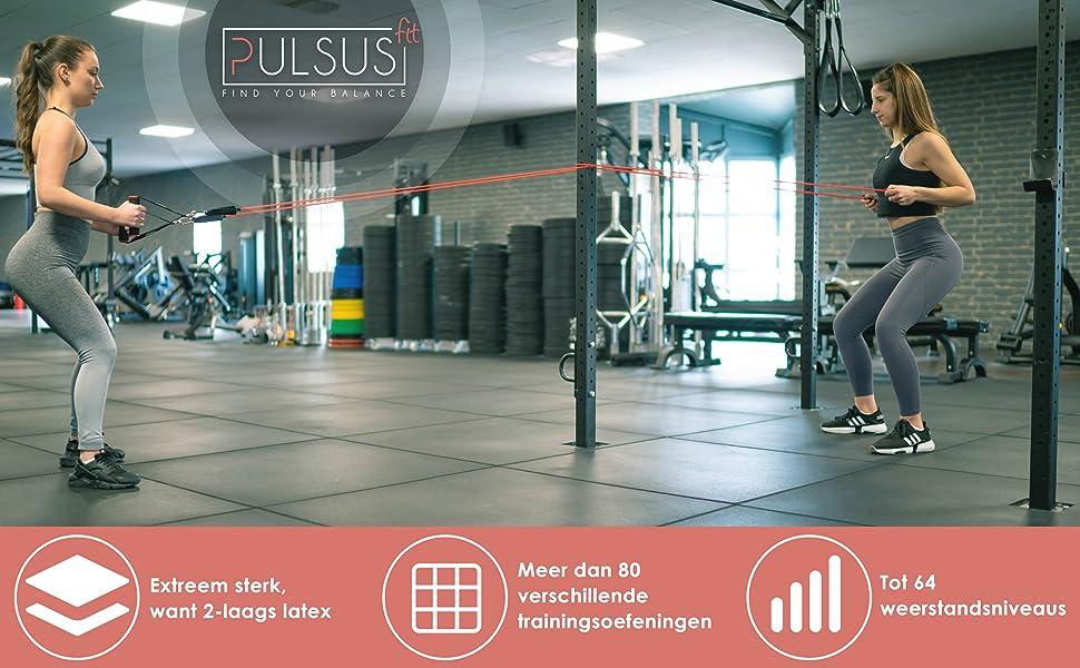 pulsus fit weerstandsbanden Fitnessband Resistance Bands