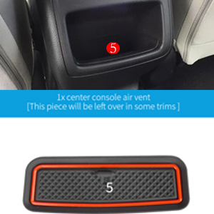 Red Auovo Anti Dust Door Mats for Honda Accord 2019 2018 2020 Interior Accessories Custom Fit Door Compartment Cup Center Console Liners 17pcs//Set