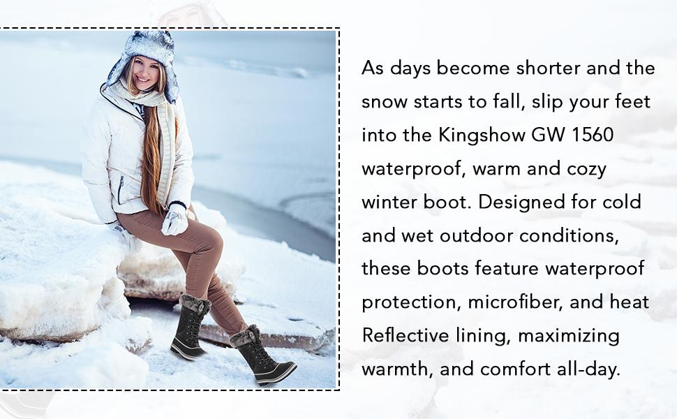 Kingshow Women/'s Globalwin Waterproof Winter Boots
