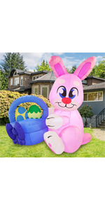 6 ft Tall Easter Pink Bunny