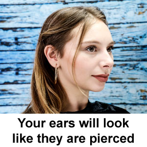 Your ears will look like they're pierced