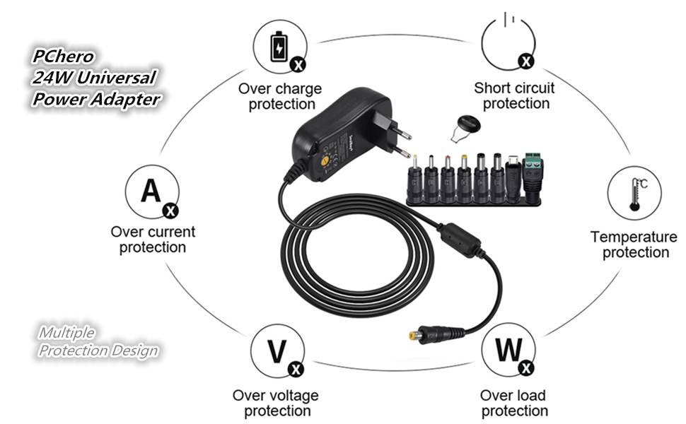 Universal AC/DC Adapter Switching Power Supply