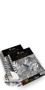 """Zenacolor Pack de 2 x Bloc de Dibujo Profesional, A4 (9""""x12"""")"""