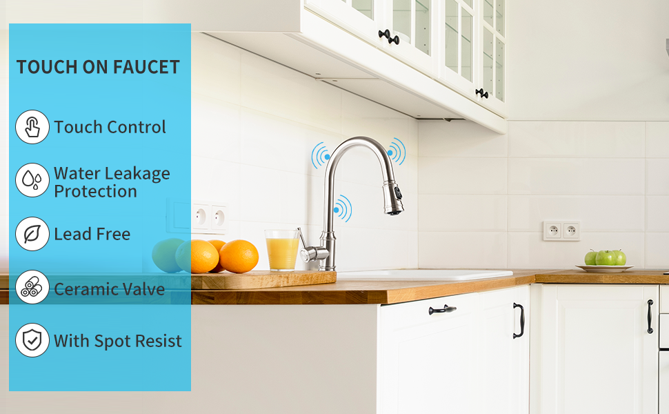 CWM Touch Kitchen Faucets with Pull Down Sprayer