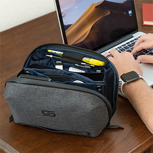 tech pouch on the table