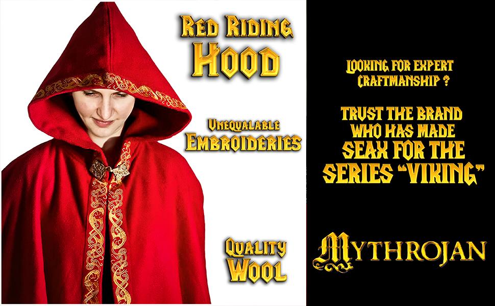 Princess Witch Renaissance wool cape SCA LARP Cosplay Viking embroidered woolen druid Vikings cloak