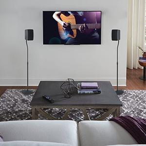 best rear speaker stand vizio home set up for surround sound speaker stands in pair cheap