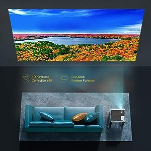 correccion horizontal, keystone vertical, luximagen fuhd230, fuhd200, cine en casa, presentaciones