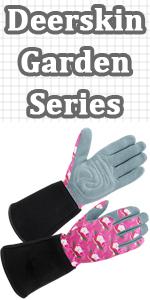 Women Deerskin Suede Garden Gloves