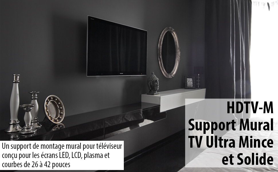 Invision HDTV-M Lifestyle Support mural tv 26 a 42 pouces