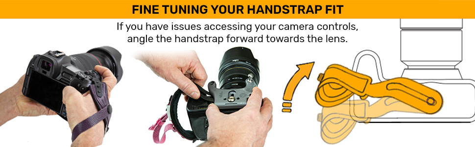 How to adjust the Spider Pro Hand Strap v2 for better access to camera controls.