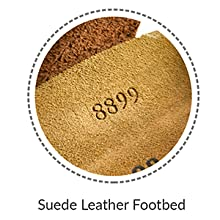 Suede Leather Footbed