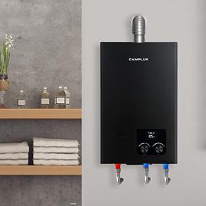 tankless water heater indoor