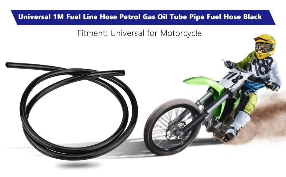 Motorrad Kraftstoffleitung Öl Schlauch Keenso Universal Benzin Gas Öl Gummi Rohr Kraftstoff Leitung Schlauch 3 Fuß Langer Schwarz Auto