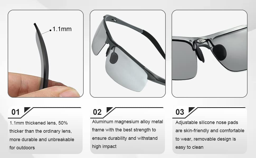 Polarized Potochromic Sunglasses-4