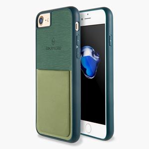 スマホカーバ スマホケース 携帯ケース iPhoneケース 手帳型ケース カード入れ カードホルダー 交通カード スマホ背面 ID カード IC カード 免許証 パースケース TPU グリーン