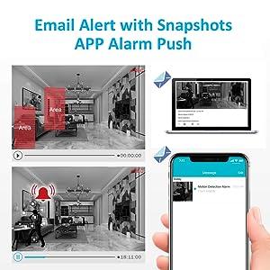 Alarm push with snapshot