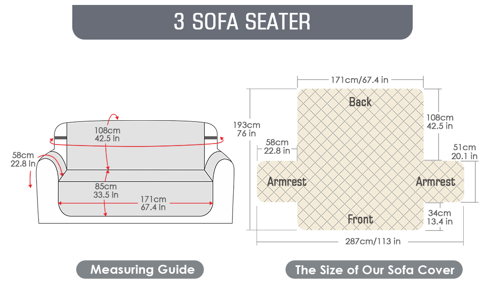 Sofa Cover 3 Seater;Chair Cover;Sofa Slipcovers;Slip Cover for Dogs;Sofa Protector;Covers Waterproof