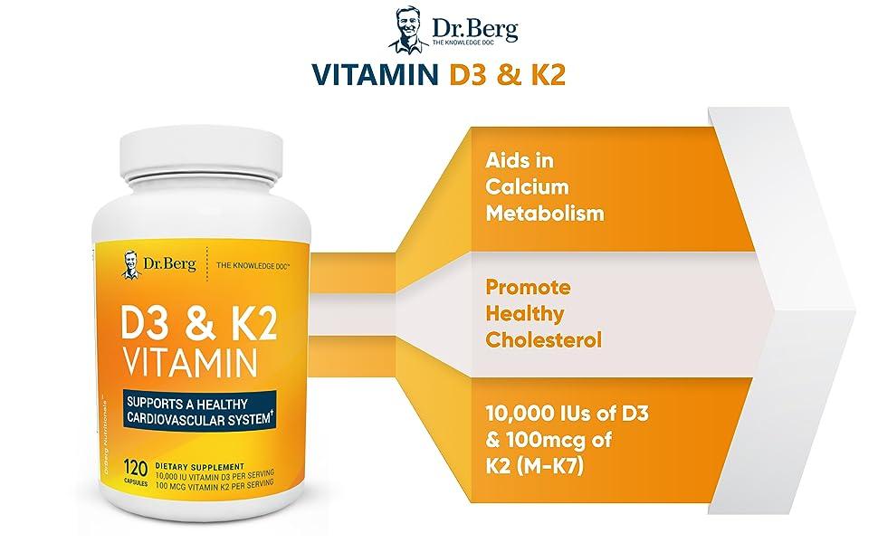 Dr. Berg d3 k2 dietary Supplement