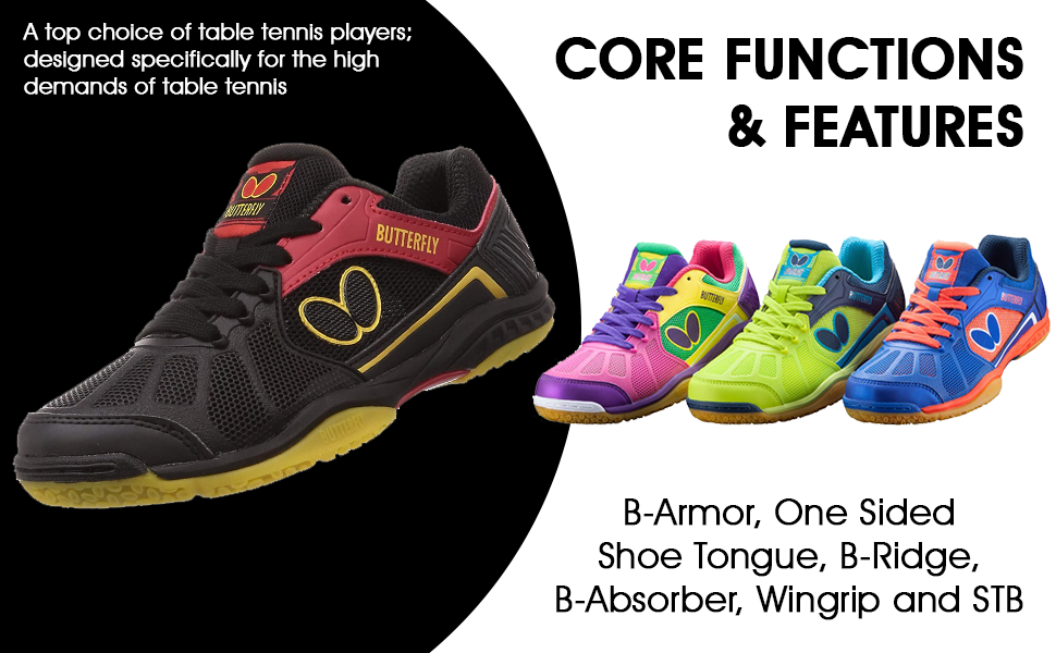 Butterfly Lezoline RIFONES Shoes: Designed specifically for the high demands of table tennis