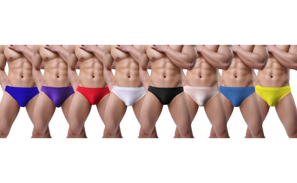 Mens Jockstrap Underpants Breathable Briefs Bikini Ice Silk Low Rise Underwear
