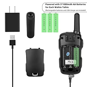 walkie talkies Rechargeable