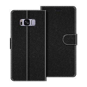 COODIO Funda Samsung Galaxy S8 Plus con Tapa, Funda Movil Samsung S8 Plus, Funda Libro Galaxy S8 Plus Carcasa Magnético Funda para Samsung Galaxy S8 Plus, Negro: Amazon.es: Electrónica