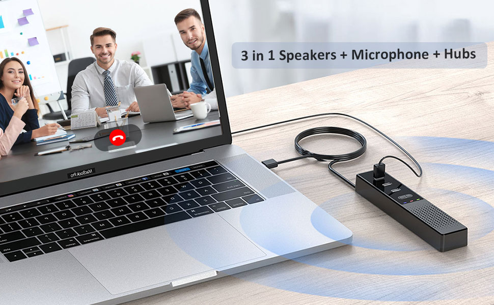 computer speaker with microphone for desktop