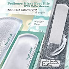 Large Glass Foot File
