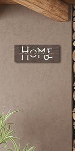 Home Rustic Wood Grain Small Block Mount