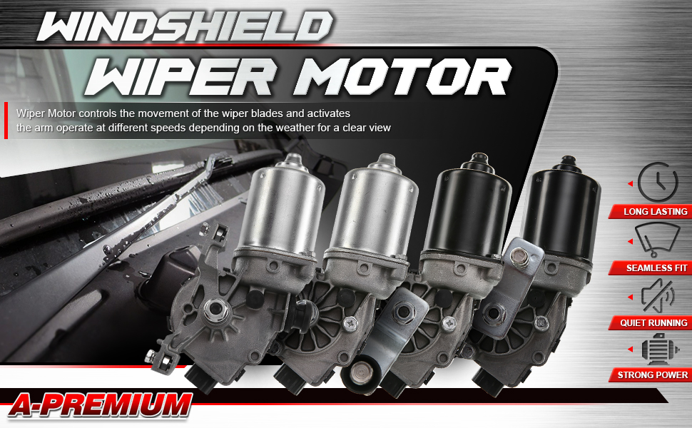 A-Premium Windshield Wiper Motor Front for Lexus Toyota Mazda Suzuki Mitsubishi HS250h LS460 LS460L LS600h L RX350 RX450h 2006-2017
