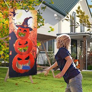 Halloween Pumpkin Bean Bag Toss Game