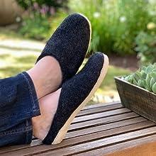 mens slippers, slippers, wool slippers, nootkas,