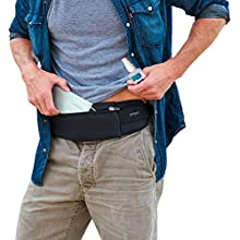 Man wearing travel belt