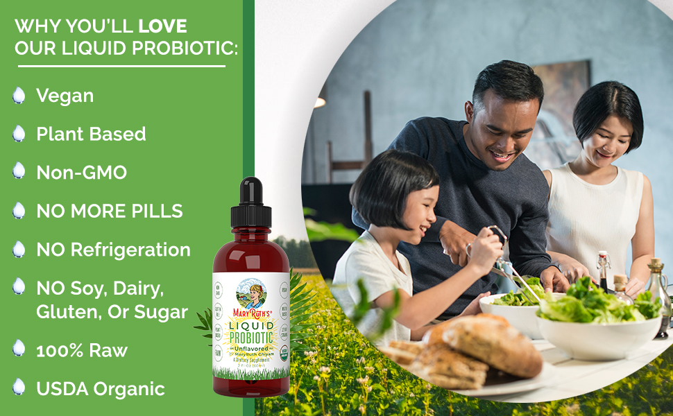 Plant-Based, Organic, Liquid Probiotics, Non-GMO, Vegan, RAW, Paleo, acidophilus, Digestion, drops