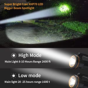 Bright led  Spotlight Flashlight Searchlight handheld  high powered Rechargeable