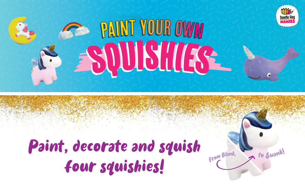 unicorn arts and crafts, squishes