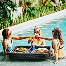 Floating Pool Tray Swimming Pool Tray Floating Breakfast Floating Brunch Pool Floats Pool Party Spa