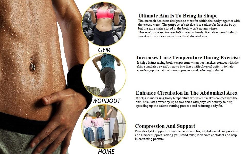 wearslim 3.5 MM Slimming Belt  Hot Body Slim Shaper Slim Belt - ADA Melt and Slim Belt Tummy Trimmer