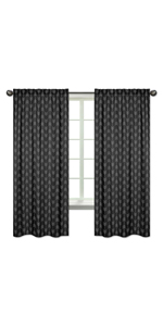 Black and White Woodland Arrow Window Treatment Panels Curtains for Rustic Patch Collection