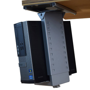 Under Desk Swiveling & Sliding CPU Holder Metal Desk organizer standing desk accessories