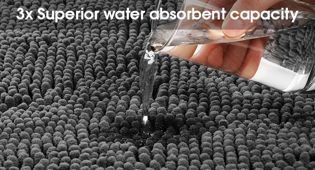 Soft comfort house clean water-absorbent rug set