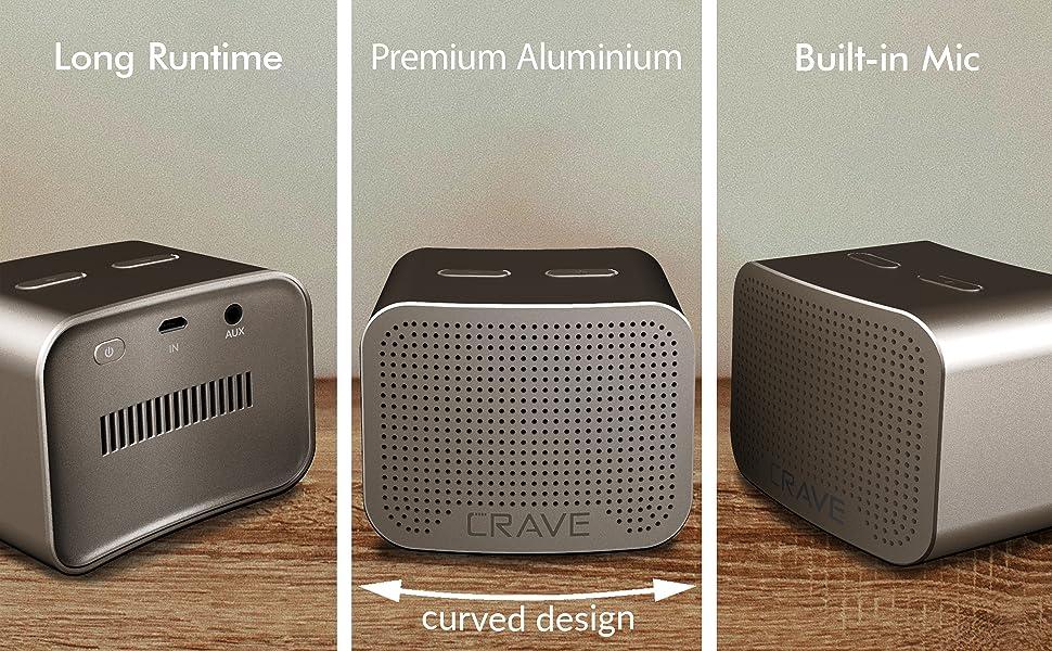 bluetooth speaker wireless small portable light high range crave curve aluminum outdoor speaker