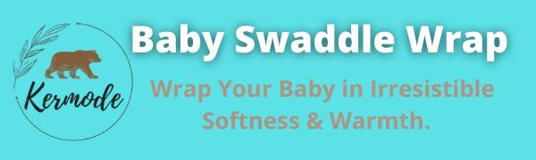 Kermode Baby Swaddle Wrap. soft warm plush brown blanket swaddler preemies newborn infants clothes