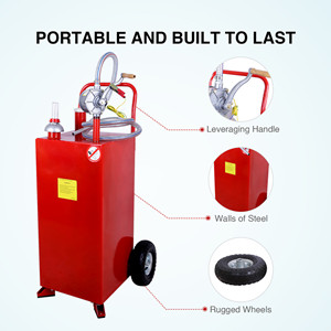 30 gal handy portable fuel storage container
