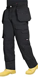 Proluxe Endurance Multi Pocket Cargo Combat Tradesman Trouser with Knee Pad Pockets