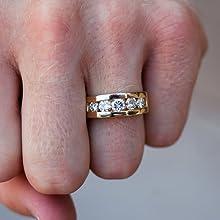 Men Designer Diamond Moissanite Rings